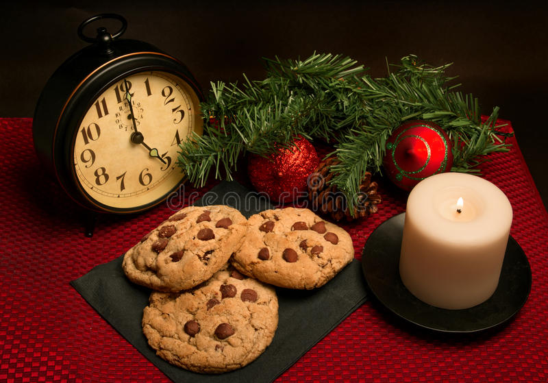 Chocolate Chip Cookies for Christmas Holiday. Fresh out of the oven baked homemade chocolate chip cookies for Christmas are a tradition in the United States stock photos
