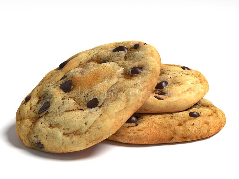 Chocolate Chip Cookies royalty free illustration