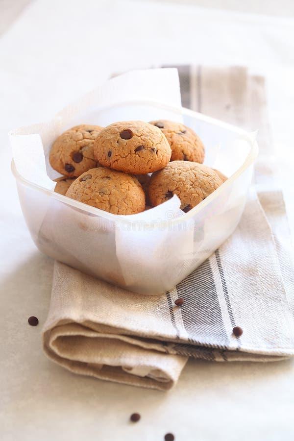 Chocolate Chip Cookies de la mantequilla de cacahuete fotografía de archivo