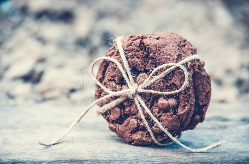 Chocolate chip cookies. Homemade cookies. stock photos