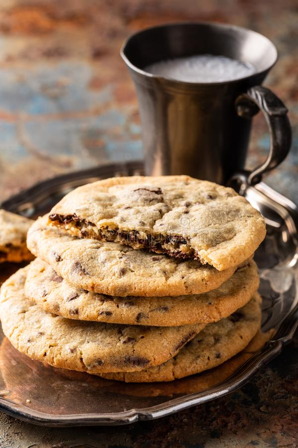 Chocolate Chip And Blueberries Cookies Stock Image