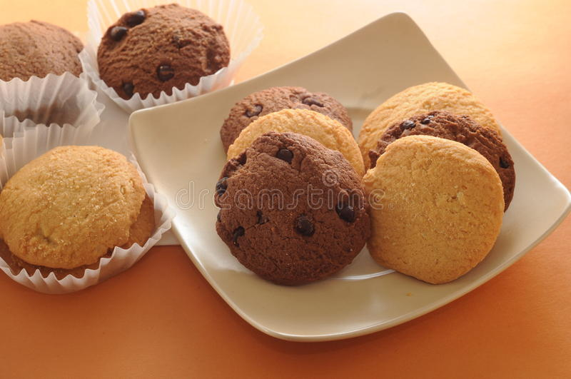 Chocolate Chip Cookies. With paper stock photography