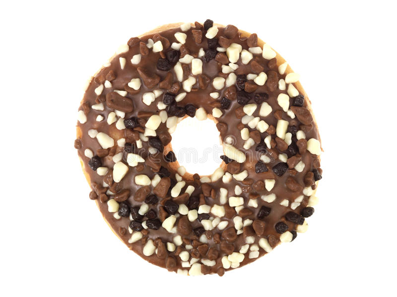 Chocolate Chip Donut royalty free stock images