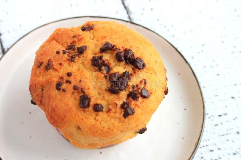 Chocolate Chip Muffin fotografía de archivo