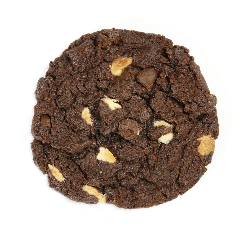 Download Chocolate chips cookie stock image. Image of white, view - 4765967