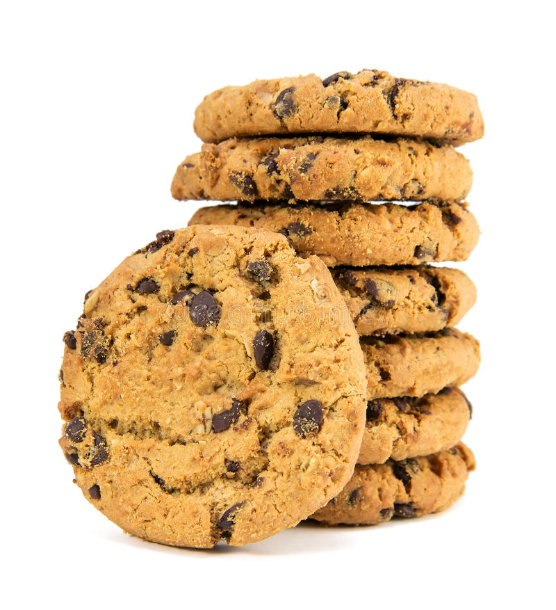 Chocolate chips cookies stock images