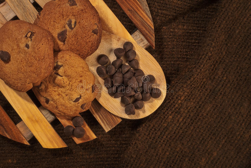Download Chocolate chips cookies stock photo. Image of dessert - 33828710
