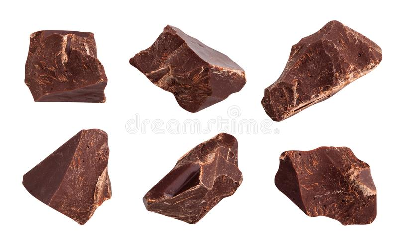 Chocolate chunks stock image