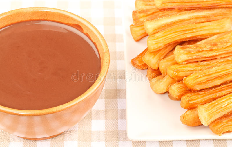 Download Chocolate with Churros stock image. Image of fried, cocoa - 29094829