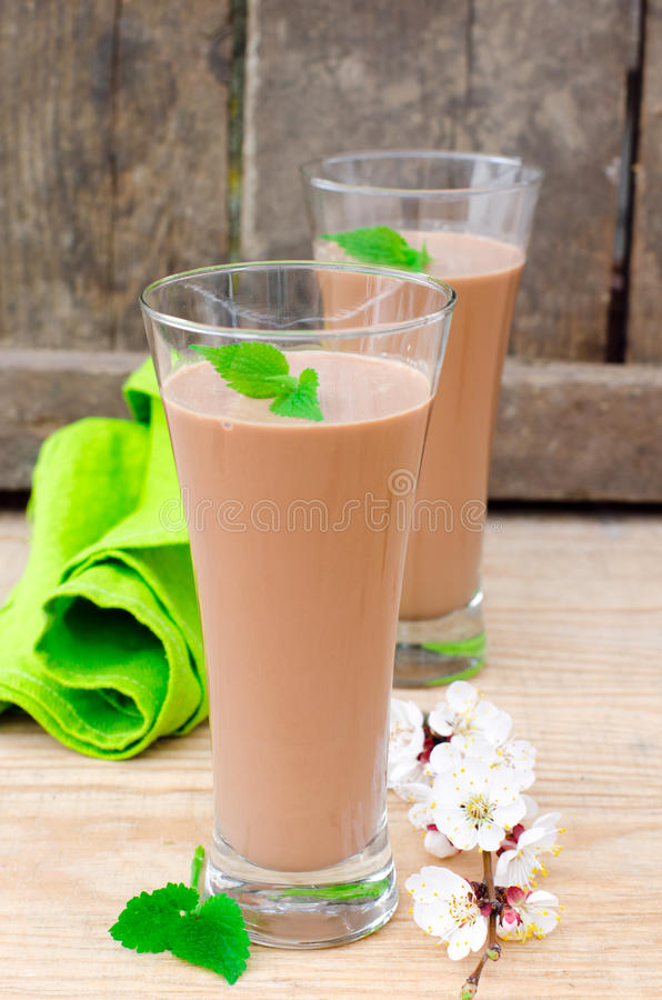 Download Chocolate cocktail stock photo. Image of alcoholic, foam - 30421462
