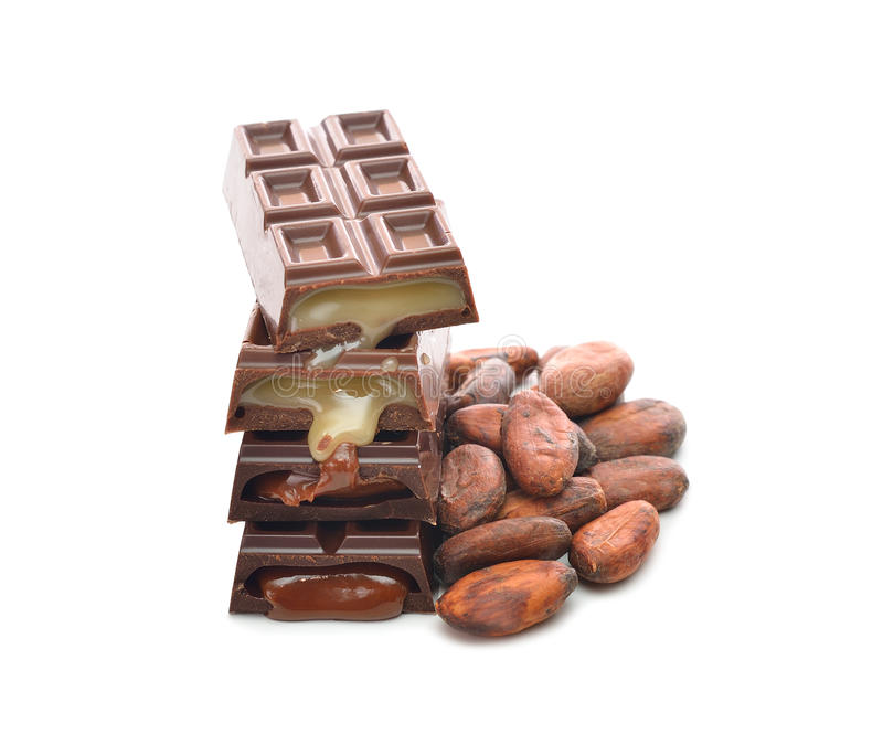 Download Chocolate and cocoa beans stock photo. Image of texture - 28385668