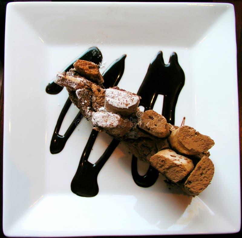 Chocolate coffee cake royalty free stock photos