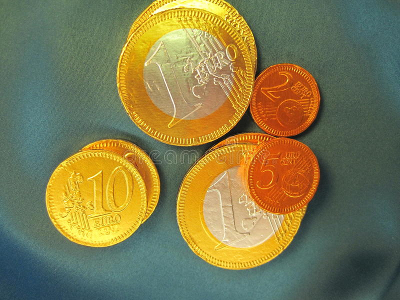 Download Chocolate coin stock image. Image of golden, kids, money - 23841107