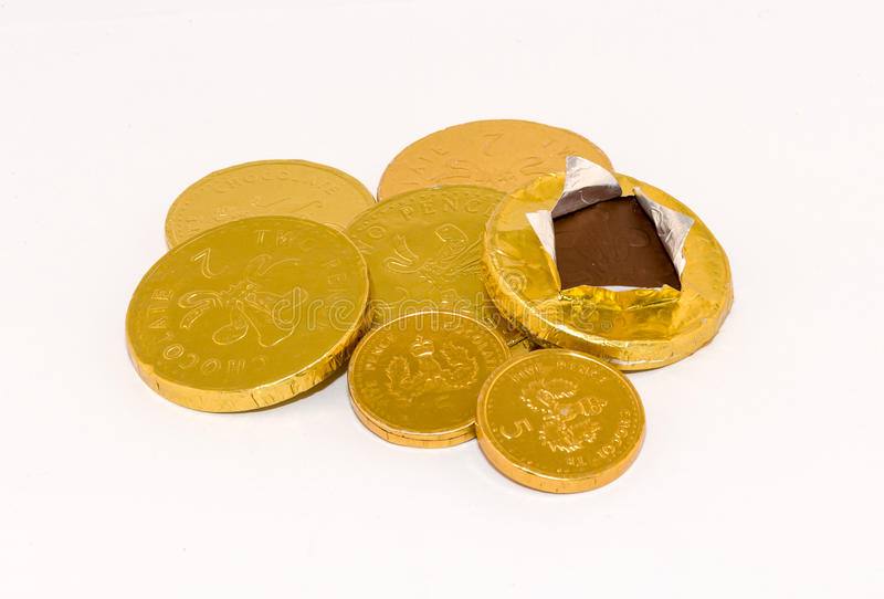 Chocolate Coins stock images