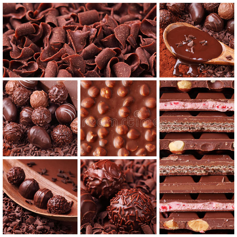 Chocolate collage royalty free stock image