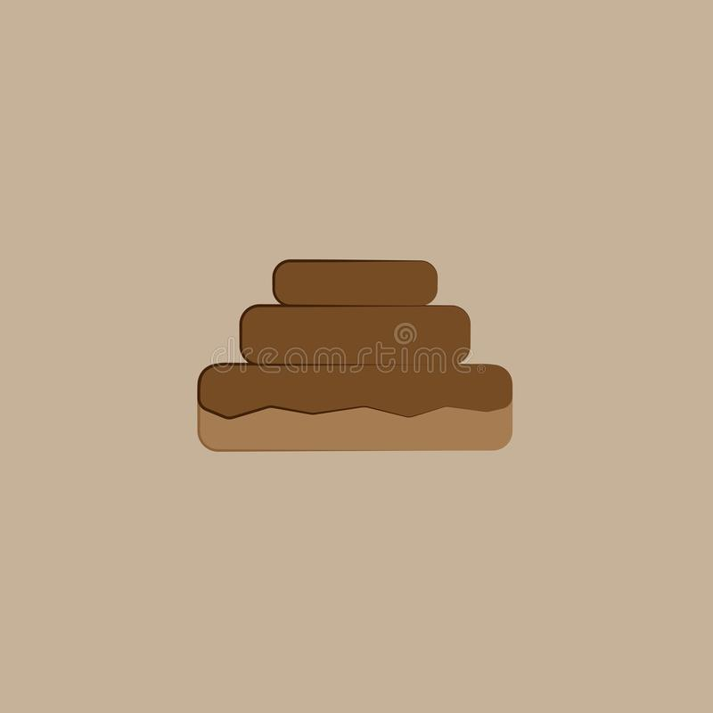 Chocolate cookie on the beige background. Chocolate cookie on the light beige background royalty free illustration