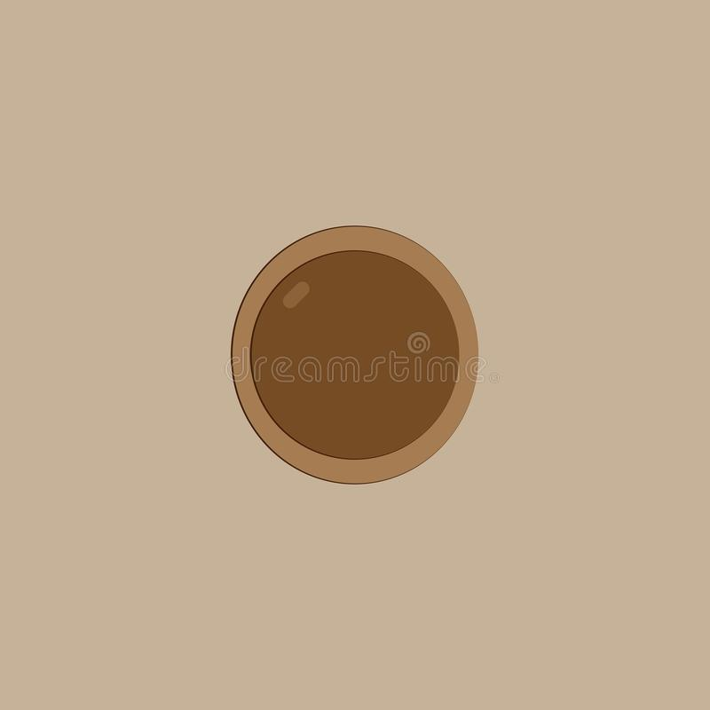 Chocolate cookie on the beige background. Chocolate cookie on the light beige background vector illustration