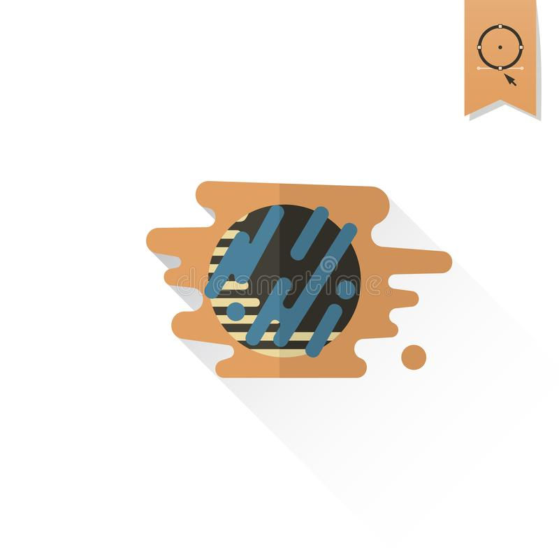 Chocolate Cookie with Cream Filling. royalty free illustration