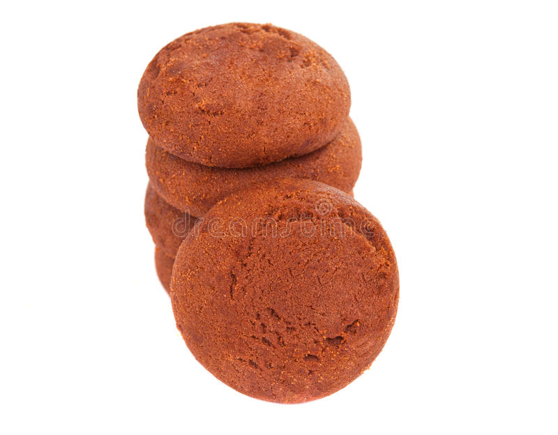 Chocolate cookie with filling isolated