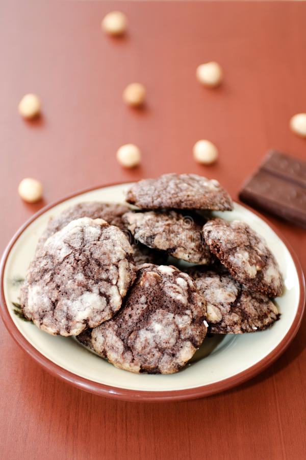Chocolate cookies royalty free stock image