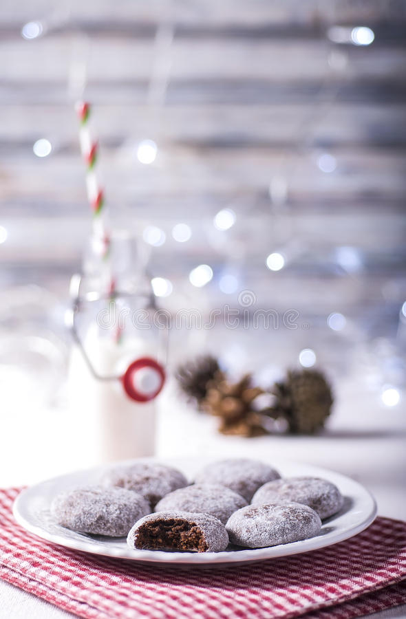 Download Chocolate cookies stock image. Image of celebration, lighting - 28085523