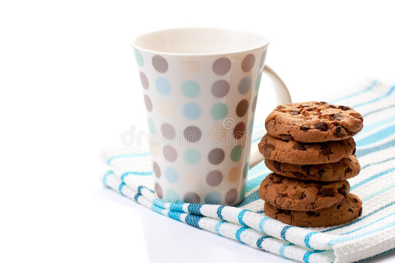 Chocolate Cookies And Cup Stock Image