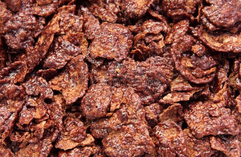 Chocolate corn flakes. Photo of chocolate corn flakes background stock photography