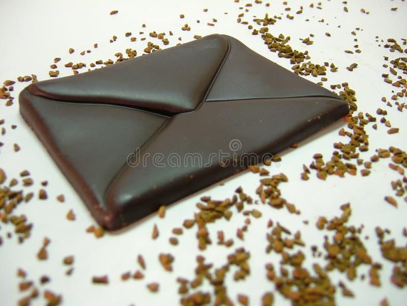 Chocolate - correo imagen de archivo