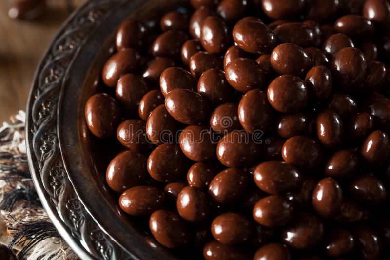 Chocolate Covered Espresso Coffee Beans stock image