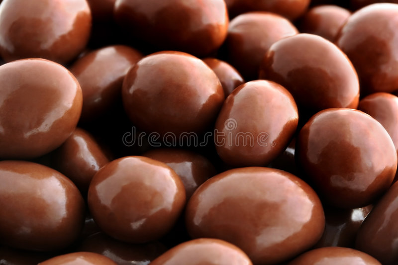 Chocolate-covered Peanuts Stock Photos