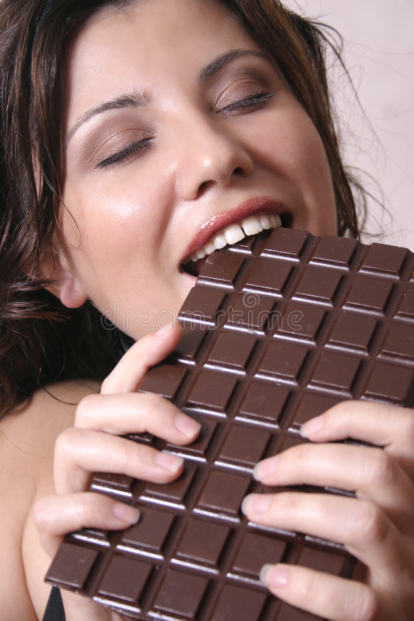 Chocolate craving royalty free stock photography