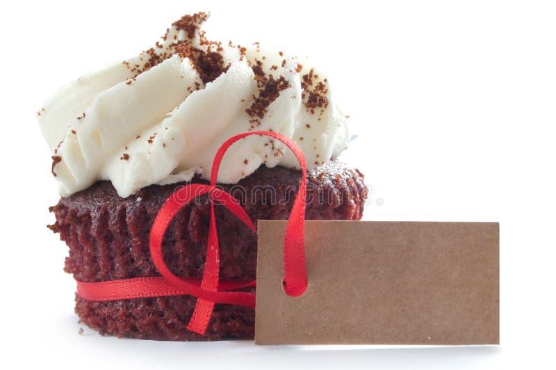 Seasonal cupcake with greeting card stock image