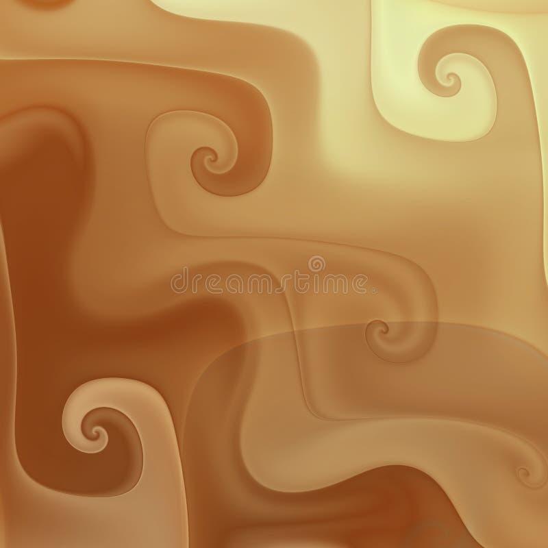 Chocolate cream melting swirls royalty free illustration