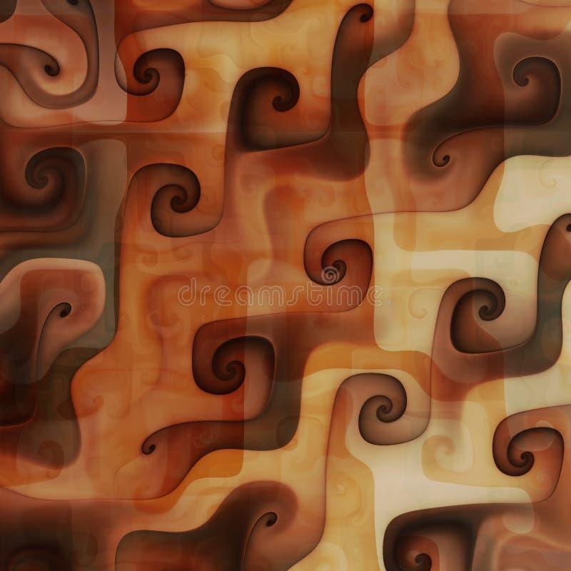 Chocolate cream melting swirls vector illustration