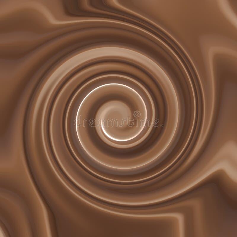 Chocolate Cream Swirl stock images