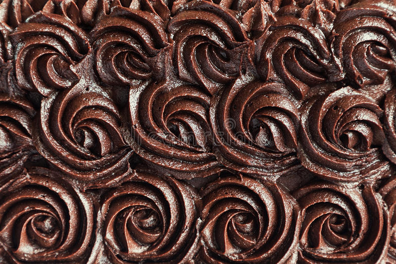 Chocolate cream swirls background royalty free stock images