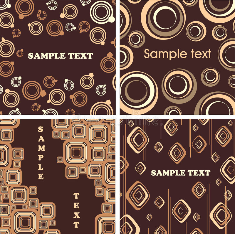 Chocolate and cream textures. vector illustration