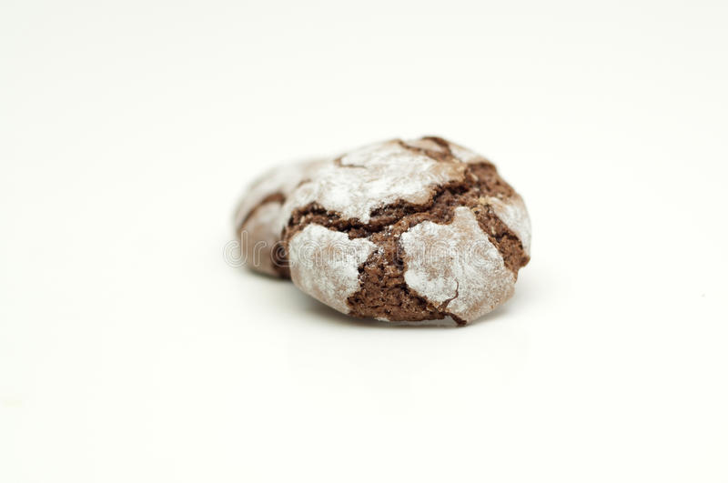 Chocolate crinkles. On a white background royalty free stock photography