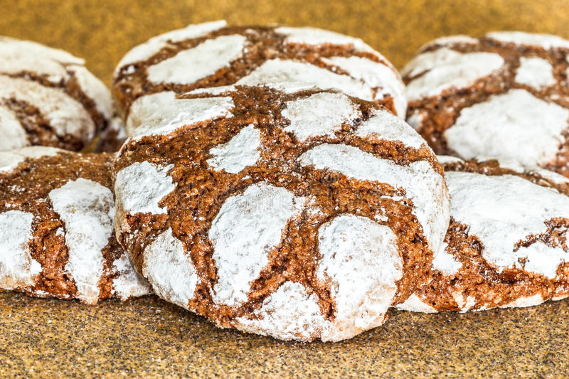 Chocolate crinkles stock images