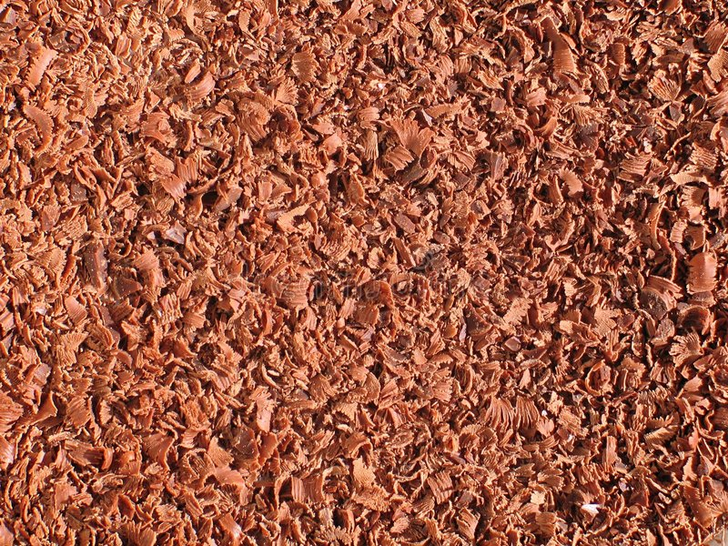Chocolate crumbs background stock photo
