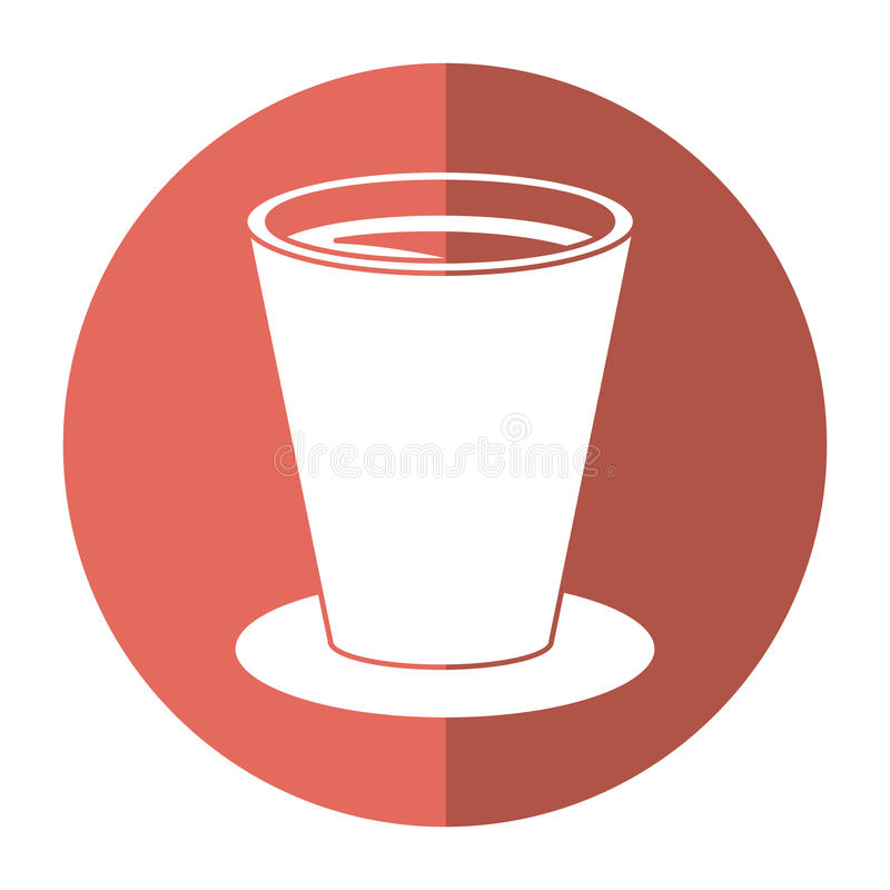 Chocolate cup beverage breakfast - round icon. Vector illustration eps 10 royalty free illustration