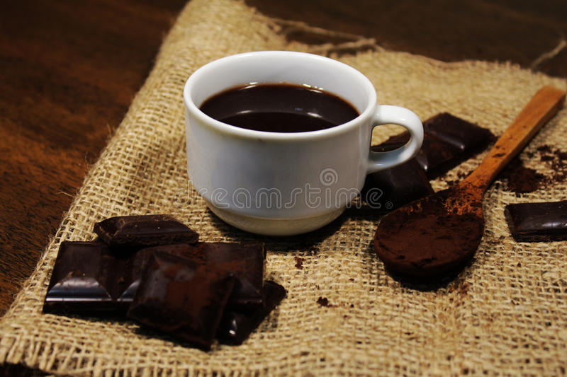 Chocolate cup. White cup chocolate hot cocoa stock images