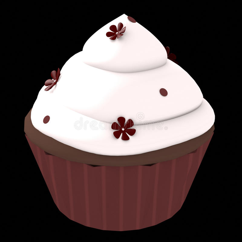 Chocolate cupcake - 3d computer generated