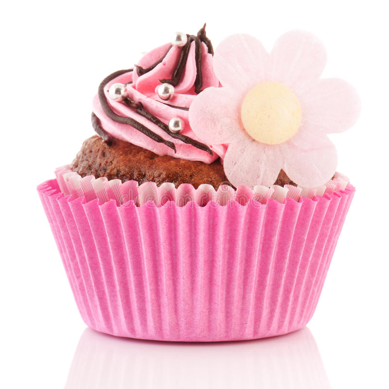 Download Chocolate Cupcake With Flower Stock Image - Image: 26321529