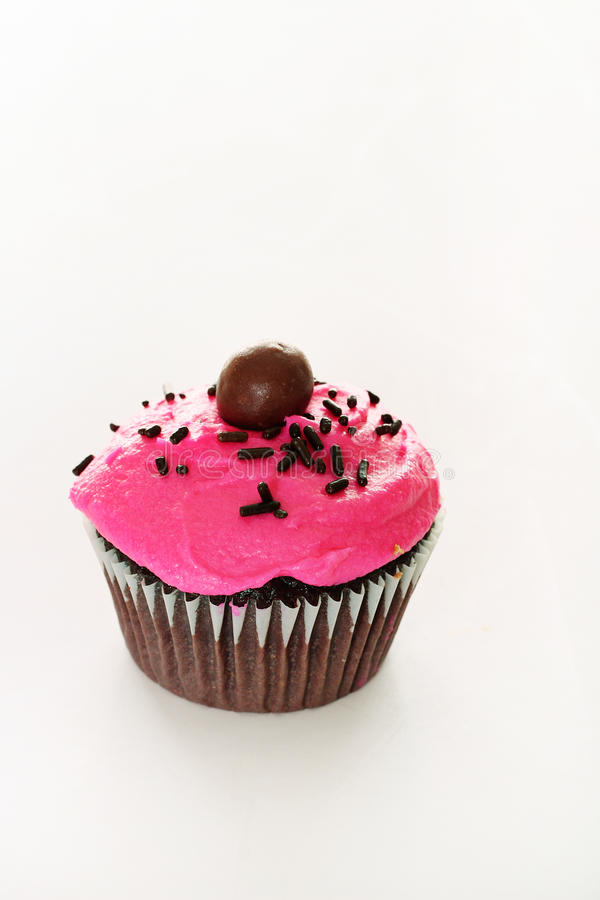 Download Chocolate Cupcake With Pink Frosting Stock Photo - Image: 11869626
