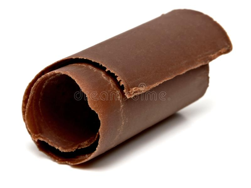 Chocolate curl royalty free stock image