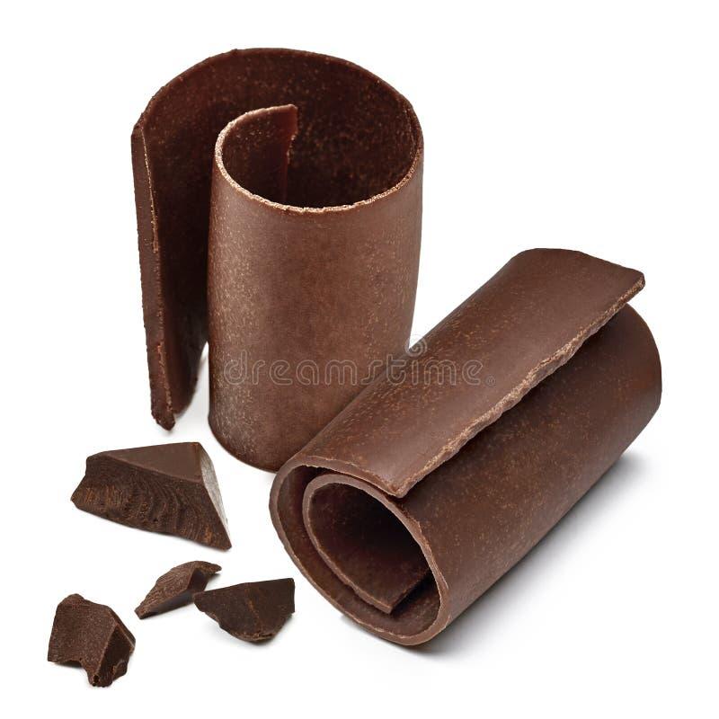 Chocolate Curls stock image