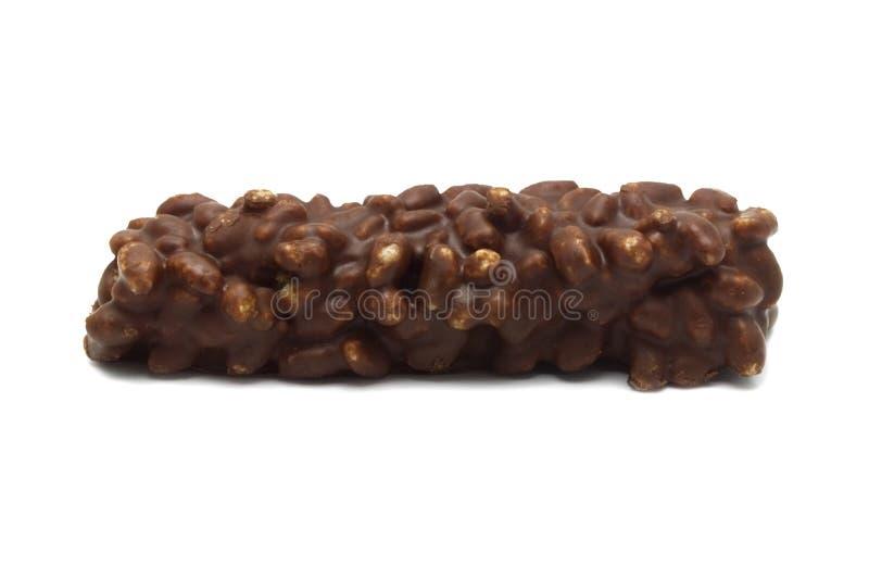 Chocolate curruscante agrietado de las obleas imagen de archivo