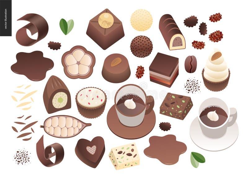 Chocolate da mola do amor ilustração royalty free