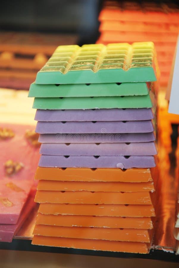 Chocolate de Colorfull. fotos de stock